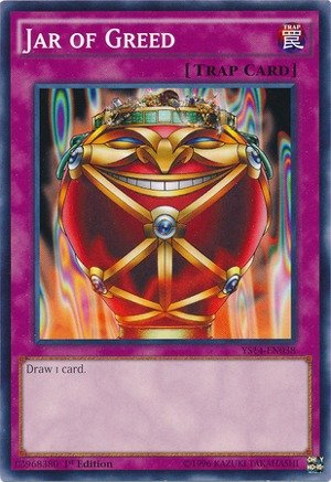 Yu-Gi-Oh! - Jar of Greed (YS14-EN038) - Super Starter - Space-Time Showdown - 1st Edition - Common ()