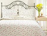 Pink Rose Garden 3-Piece Quilt Set (Full/Queen Size)