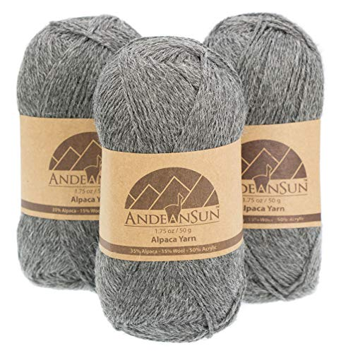 n Blend (Weight #2) FINE, Sport, Baby Skeins - Set of 3 SKEINS - 654 Yards Total - 150 Grams - 5.28 Ounces Total ()