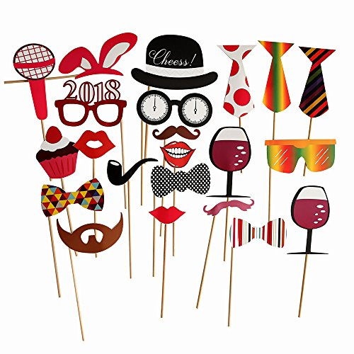 Christmas & New Years Eve Photo Booth Props 2018 NO DIY REQUIRED Funny Holiday Party Decorations for All Family - 23 - Party Photos Holiday