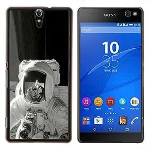 TECHCASE---Cubierta de la caja de protección para la piel dura ** Sony Xperia C5 Ultra ** --Retro de la luna