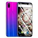 Maonet Eight Cores 6.2 inch Dual HDCamera Smartphone Android 8.1 IPS Full Screen 16GB Touch Screen WiFi Bluetooth GPS 3G Call Mobile Phone (Purple)