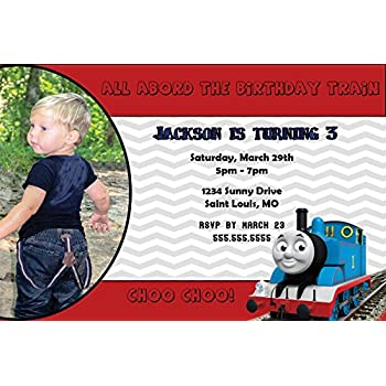 Amazoncom Customized Thomas The Train Birthday Party Invitation