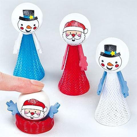 Santa & Snowman Pop-up Pals Stocking Stuffer for Children (Pack of 4)