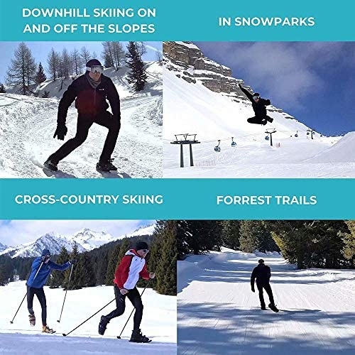 LP-LLL Outdoor Adjustable ski Shoes - Hiking Snowshoes Snow Shoes Ski Skates for Men and Women,Lightweight Snowshoes,Mini Ski Skates Ski Equipment(Black)