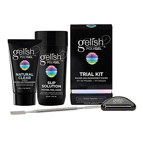 Gelish PolyGel Trial Kit, Includes: Natural Clear 2oz, 4oz S
