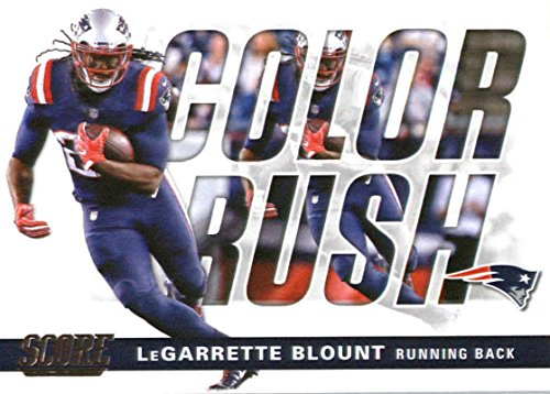 2017 Score Color Rush  2 Legarrette Blount New England Patriots Football  Card 2f32fcda5