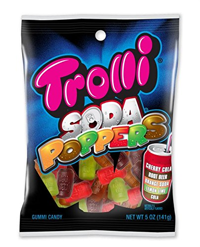 Trolli Soda Poppers Gummy Candy, 5 Ounce Bag, Pack of 12