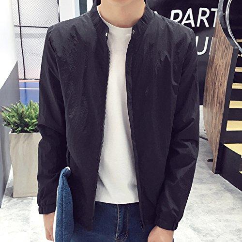 estudiantes sólido color XXL en un corto Corto de capa el fina negro coreana fina jóvenes macho de versión wild capa WRFz8q7fw