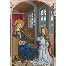 Perfect Effect Canvas ,the Replica Art DecorativeCanvas Prints Of Oil Painting 'Master Of Liesborn The Annunciation ', 24 X 34 Inch / 61 X 86 Cm Is Best For Foyer Artwork And Home Artwork And Gifts
