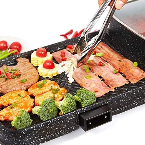 Hot Pot multi-fonction électrique Grill Accueil Barbecue sans fumée Pot Poêle antiadhésive électrique coréenne Pan Avec 5 Réglage de la température HAOSHUAI