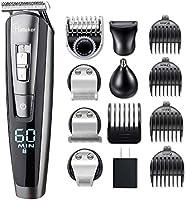 Hatteker Hair Clipper Beard Trimmer Kit for Men Cordless Hair Mustache Trimmer Hair Cutting Groomer Kit Precision Trimmer...