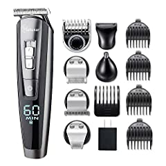 5 IN 1 GROOMING KIT Beard trimmer/full trimmer  Use the beard trimmer to complete your beard style and get clean without a comb, sharp lines around the edges of your beard. Hair trimmer  Creates fine lines, contours and details,great hair tr...