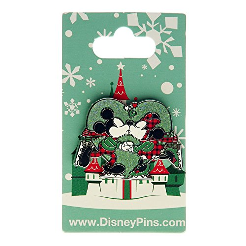 (Disney Parks Mickey and Minnie Mouse Kiss Ice Skating - Christmas and Holiday)