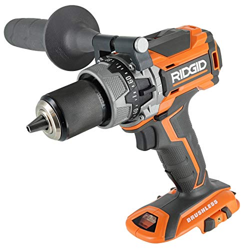 Ridgid R86116 18V Lithium Ion Cordless Brushless Compact Hammer Drill w/ 100-Setting Micro Clutch...