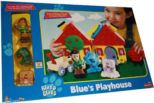 Blue's Clues - Blue's Playhouse Includes Blue, Slippery Soap and Exclusive Steve Figure
