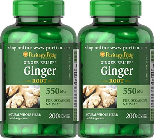 Puritan s Pride Ginger Root 550 mg-200 Capsules 2 Pack