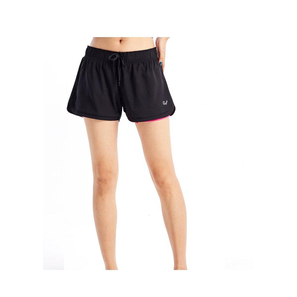 garvirp Womens Shortsパターン非表示ポケット伸縮性ジムカジュアルMoisture Wicking夏ホットパンツ B07BT6KG1J  レッド M