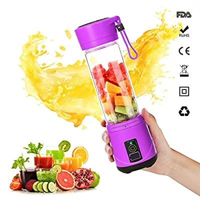 SUNAVO Portable Blender Mixer USB Rechargeable,Blender Smoothie for Single Served,USB Electric Safety Juicer Cup,Shakes and Smoothies Blender,USB Charging Sport Mini Juice Maker