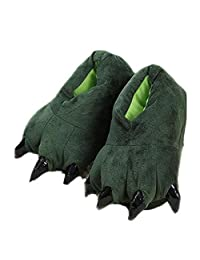 Cute bear paws slippers, winter home warm anti-slip cotton slippers
