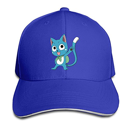 famouse-anime-happy-fairy-tail-cat-solid-colors-hat-sandwich-peaked-hats