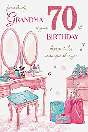 70th Birthday Card For A Grandma Amazon Office Products