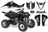 CreatorX Kawasaki Kfx 400 Graphics Kit Decals Skull Chief Silver