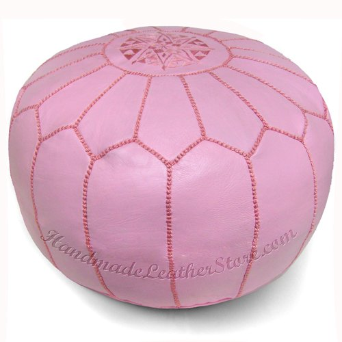Moroccan Pouf, Pouffe, Ottoman, Poof, Color : Pink by IKRAM DESIGN