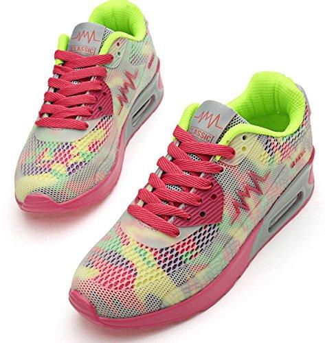Padgene Ladies Trainers Women's Sports Running Shoes Air Max Sneaker Running Jogging Trainers for Girls White VRZ58Wz02