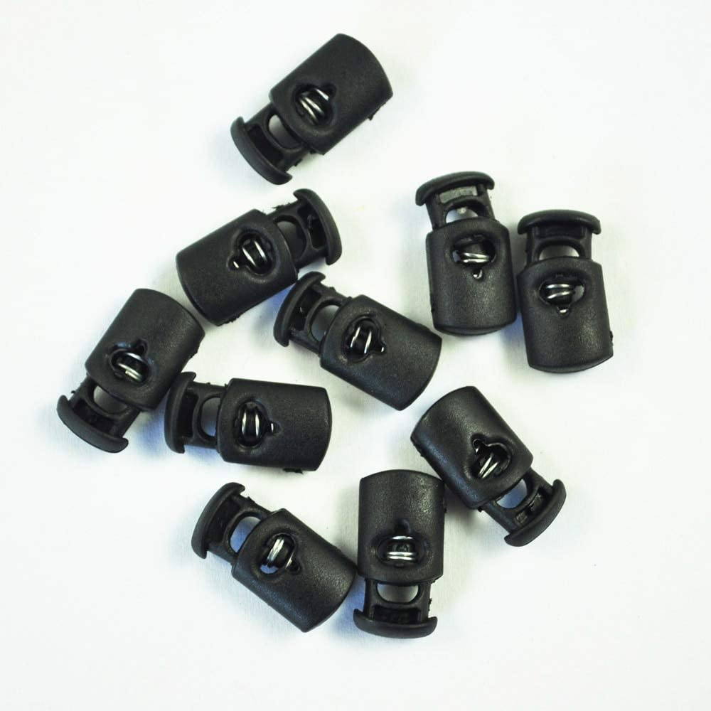 Plastic Toggle Spring Stop Single Hole String Cord Locks 10 Pcs SS