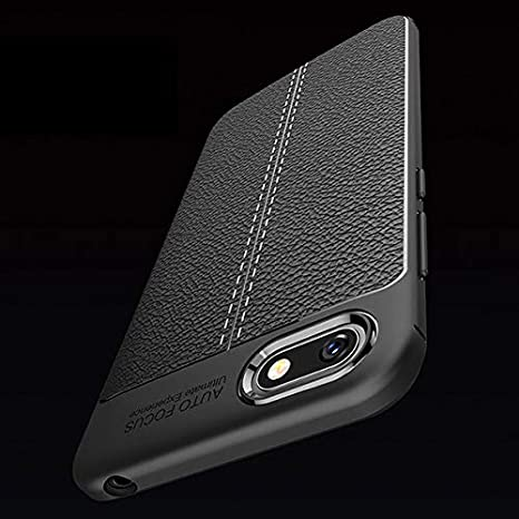 SmartLike Autofocus Silicone Back Cover for Huawei Y5 (2018) - Black