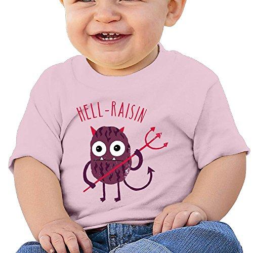 Quzim T Shirts For Kids Tshirt For Toddler Baby Boys Girls Short Sleeve Hell Raisin Trident (Girl Infant Raisin)