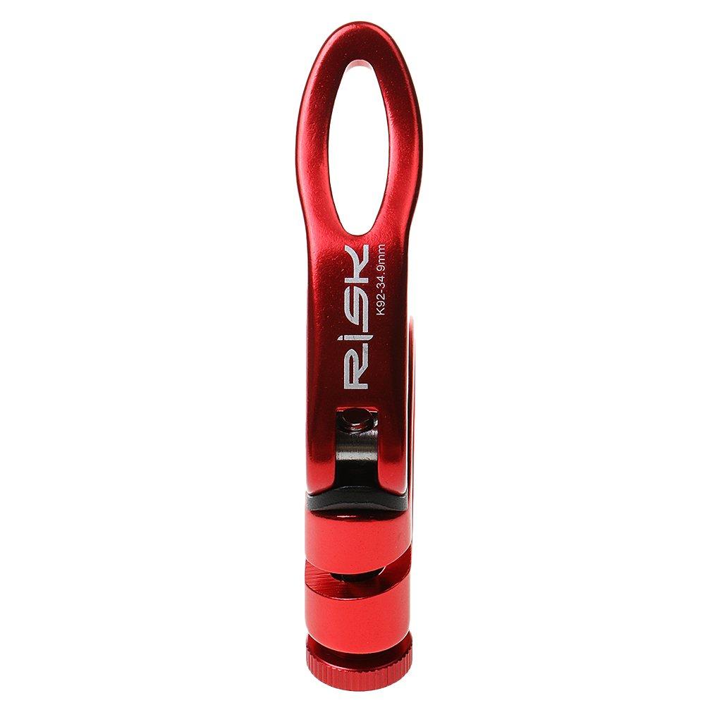 Red MagiDeal 31.8//34.9 Aluminum Ultralight Quick Release Road Bike MTB Bicycle Seatpost Clamp