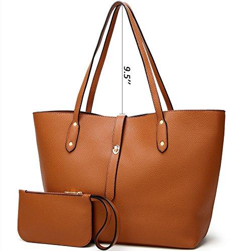Designer Tote TcIFE Brown Ladies Shoulder Wallets Satchel Handbags Women Bags for UqpASTqw