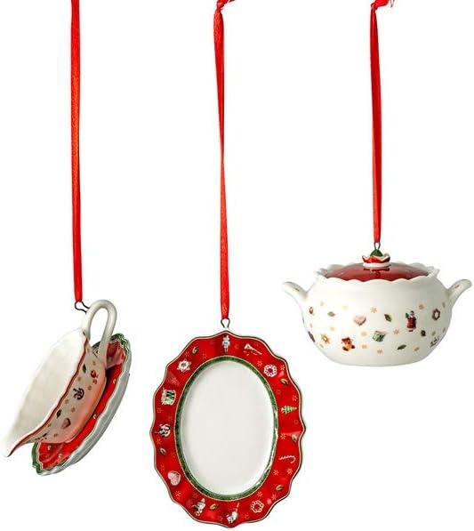 Porcelana 3x6cm Blanco Villeroy /& Boch Toys Delight Decoration Ornamente-Juego de 3 Piezas