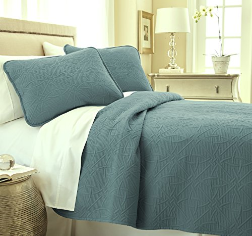 Southshore Fine Linens VILANO Springs - Modern Quilt Set, Teal, Twin/Twin XL