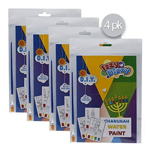 Izzy 'n' Dizzy Hanukkah Water Paint Art Kit - 4 Pack - Includes 8