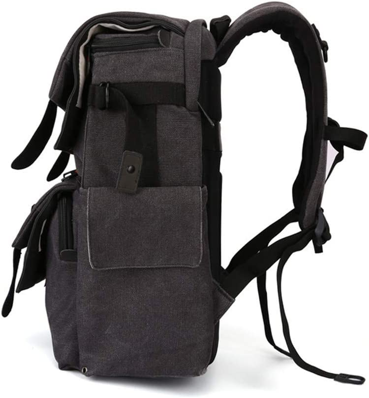 Color : Black Dertyped Digital Accessory Storage Bag Waterproof Canvas Casual Camera Bag SLR Camera Bag Travel Universal Travel Digital Accessories Storage Bag