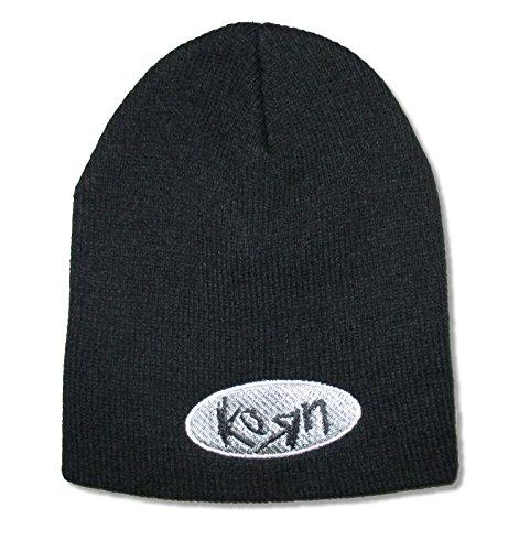 Korn Oval Logo Black Beanie Hat Cap ()