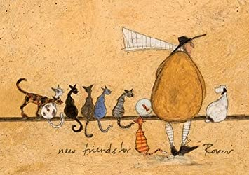 New friends for rover sam toft open greeting card st987 amazon quot new friends for rover quot sam toft open greeting card m4hsunfo