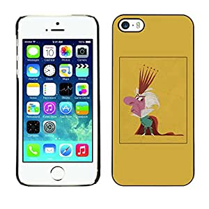 Paccase / SLIM PC / Aliminium Casa Carcasa Funda Case Cover - King Parody Caricature Monarchy Crown Man - Apple Iphone 5 / 5S