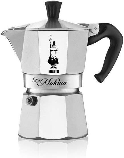 Bialetti - Cafetera de Aluminio, para Tazas 0,5, Aluminio, Plata ...