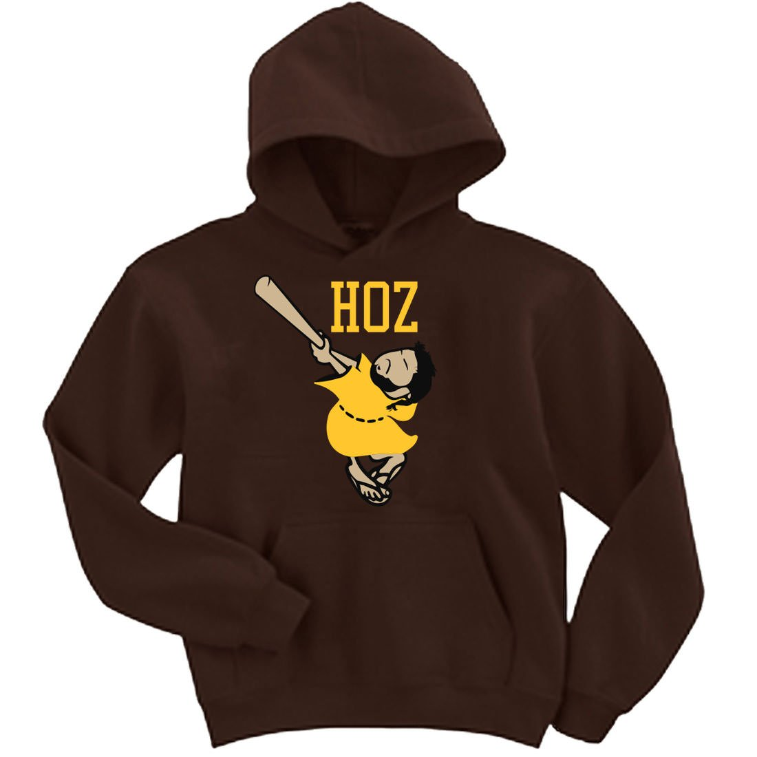 first rate f06dc 92fc6 Amazon.com: Brown Hosmer San Diego Hoz Logo Hooded ...