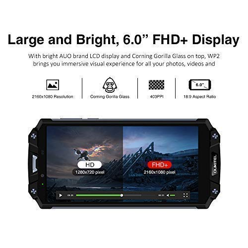 outdoor handy oukitel wp2 10000mah dual sim ip68 smartphone 6 zoll wp2 gold ebay