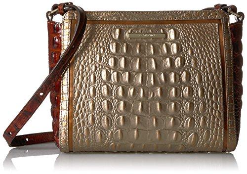 Gold Brahmin Crossbody Bag Rose Satchel Carrie TXqXrxzO