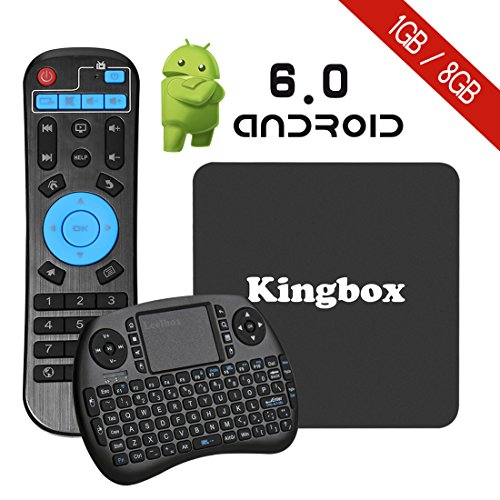Why Choose Kingbox K1 Android 6.0 TV BOX with Mini Keyboard,4K/S905X/64Bit/1+8GB/2.4G Wifi/100M andr...
