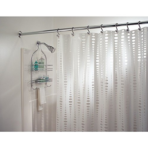 "InterDesign Orbinni Vinyl Shower Curtain - 72"" x 72"", White"