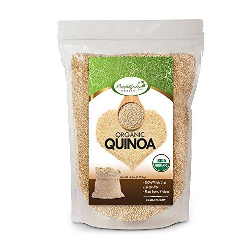100% Organic Golden White Quinoa (4lb) by FreshGreen