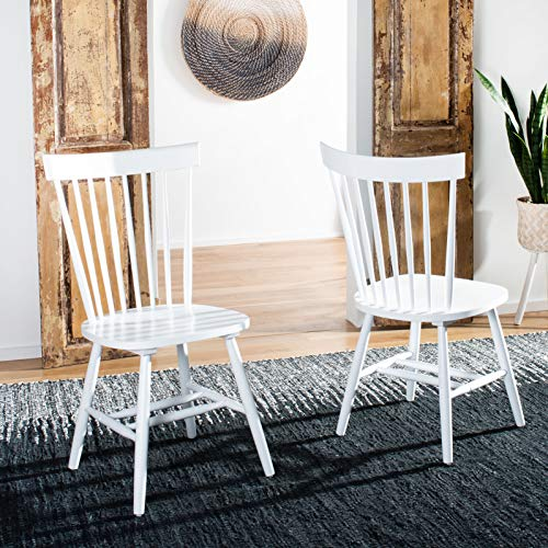 Safavieh American Homes Collection Parker Country Farmhouse White Spindle Side Chair (Set of 2)