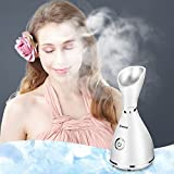 Bromose Nano Ionic Facial Steamer Spa Moisturizing Salon Skin Care Pores Cleanse Hot Mist Face Sprayer -with Timer and Extract Blackheads